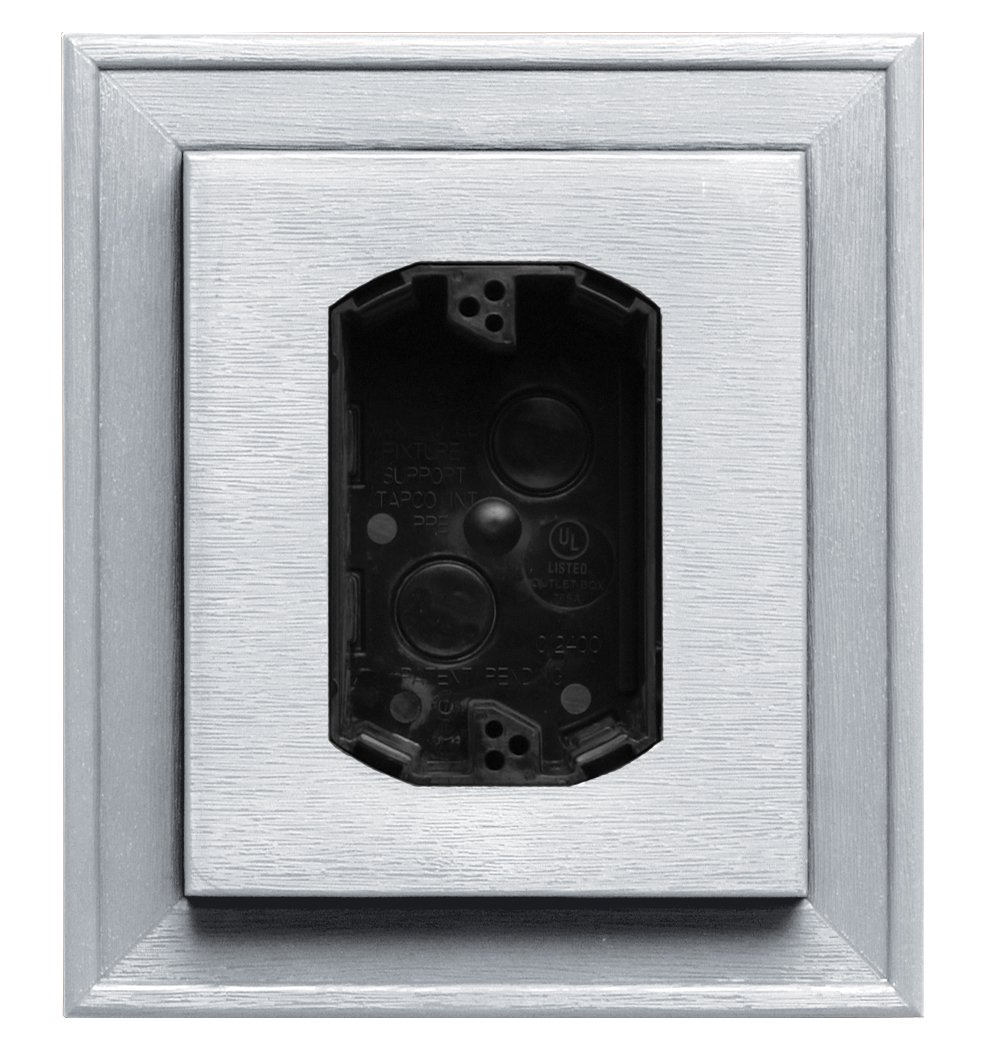 Builders Edge 130110010001 130010010001 Electrical Mounting Block, White The TAPCO Group - DROPSHIP