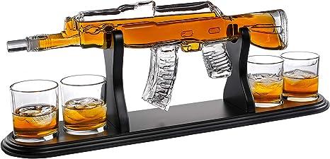Gun Whiskey Decanter Gift Set