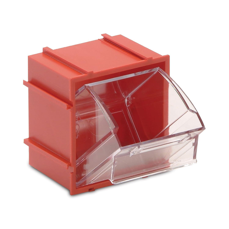 Red Interlocking Tip Out Bin 2.375 x 2.8125 x 3