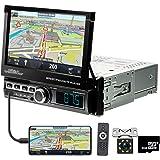 Car Stereo Single Din in Dash GPS Navigation 7 Inch Motorized Flip Out Touch Screen Bluetooth Car Radio Head Unit Car MP5 FM/