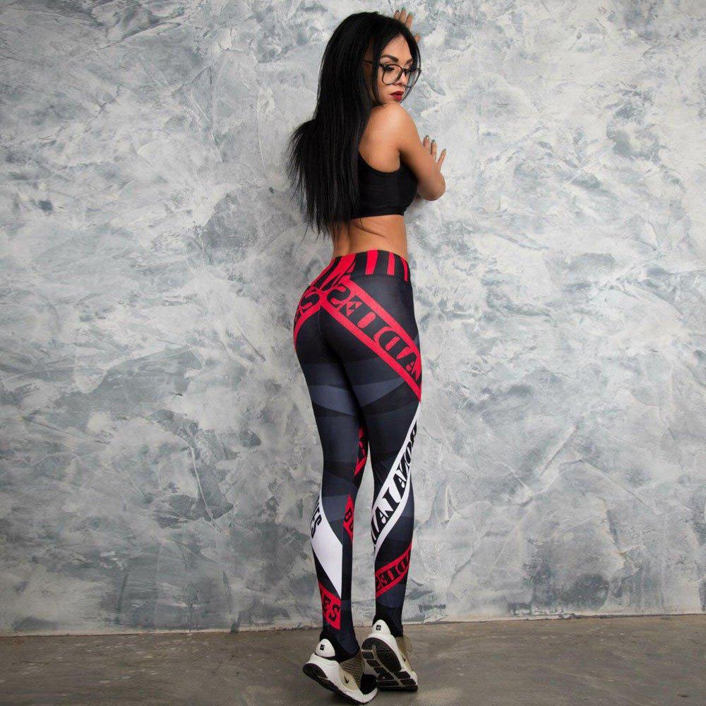 HARRYSTORE Caliente Mujeres Deportes Gimnasio Entrenamiento de Yoga Mediados de Cintura Correr Pantalones Fitness Elástico Leggings