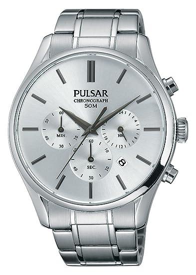Pulsar - Reloj de Pulsera Hombre cronógrafo Cuarzo Acero Inoxidable pt3775 X 1: Amazon.es: Relojes