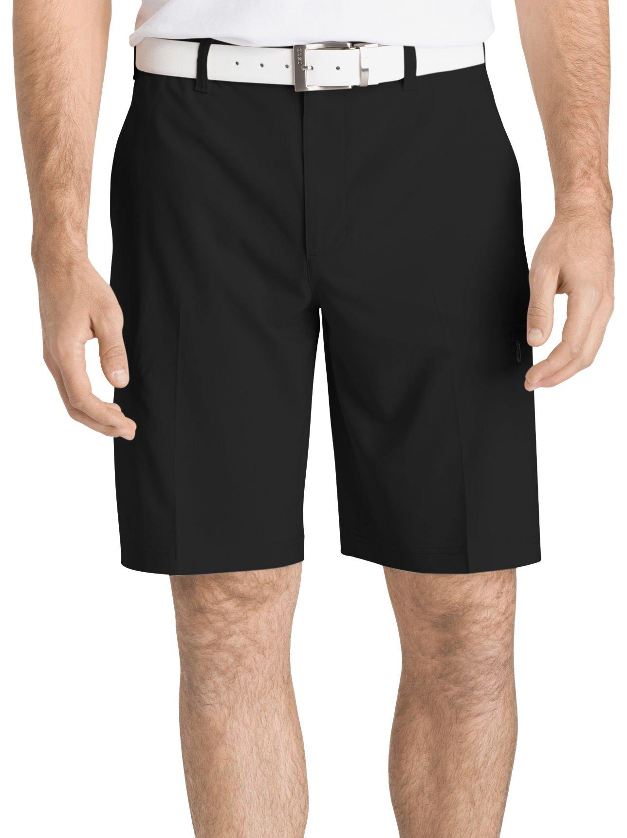 IZOD Men's Golf Swing Flex Cargo Short, Black, 38
