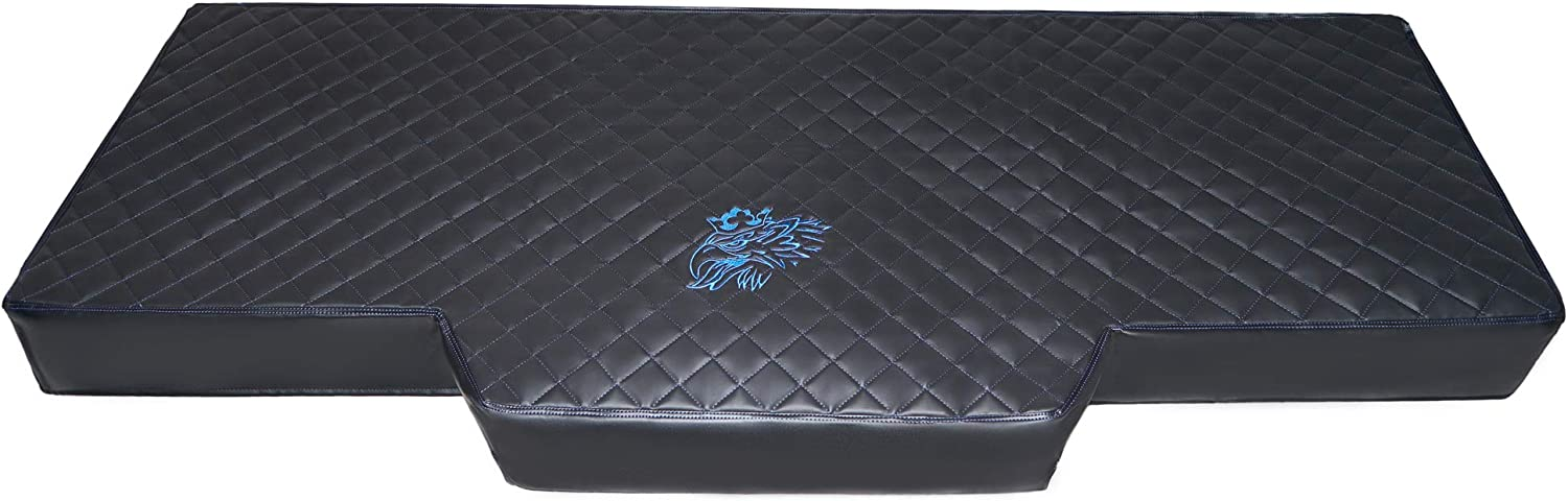 NEW GENERATION TRUCK BED COVER FIT SCANIA R /& S 2017+ ECO LEATHER BLACK-BLUE STITCHES