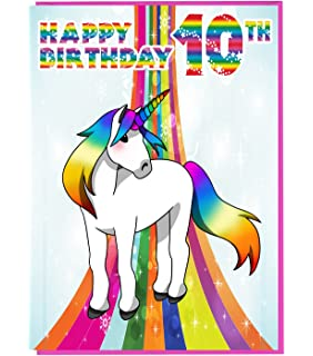 Birthday Card For Ten 10 Year Old Girl Free 1st Class Post Uk