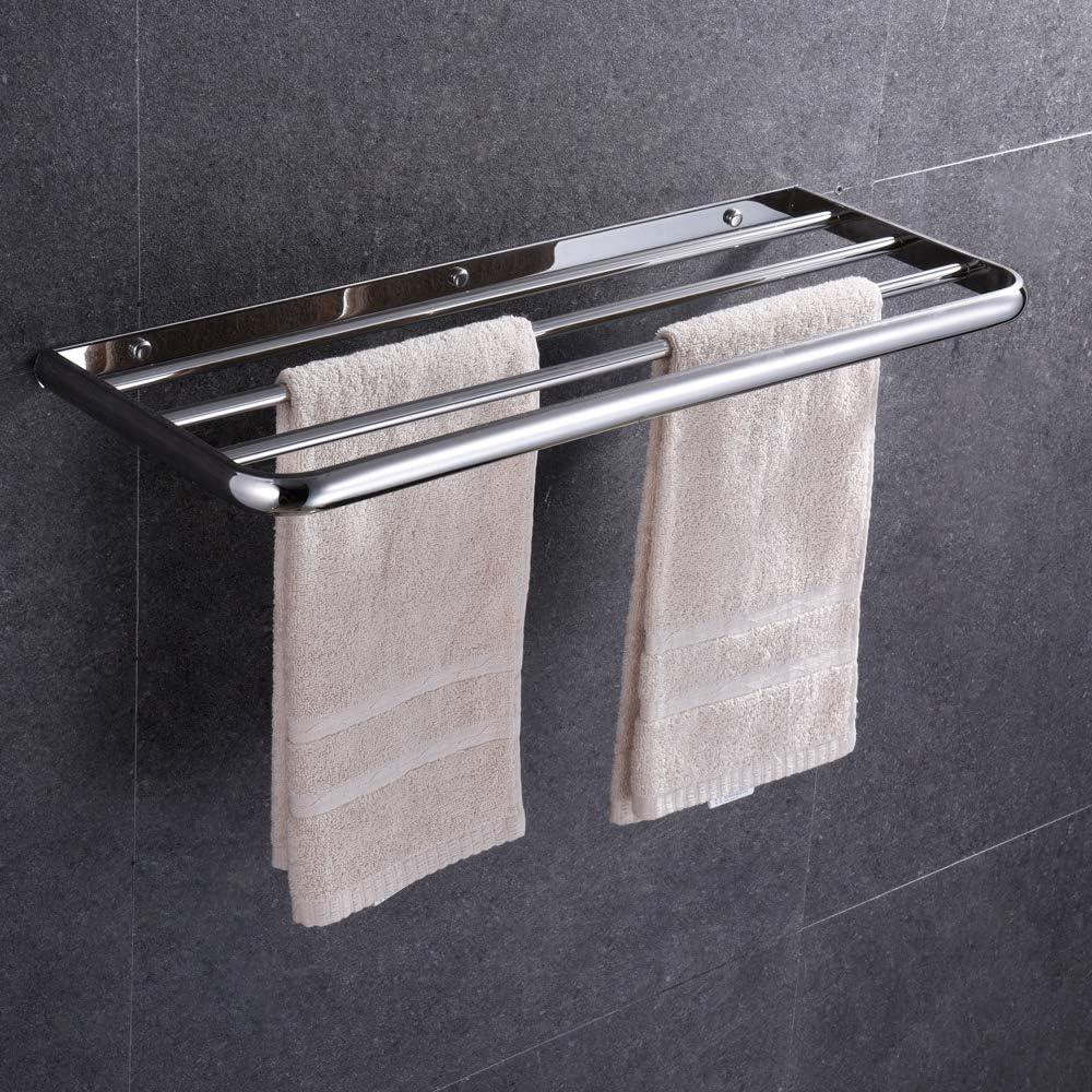 para ba/ño Toallero de acero inoxidable SUS304 con soporte para almacenamiento de toallas HONPHIER cocina para montar en la pared