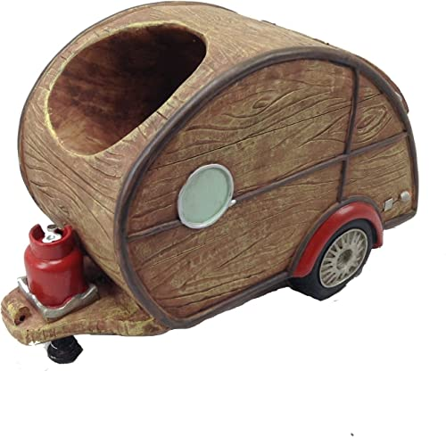 RV Collectibles Woody Teardrop Travel Trailer Wine Bottle Holder