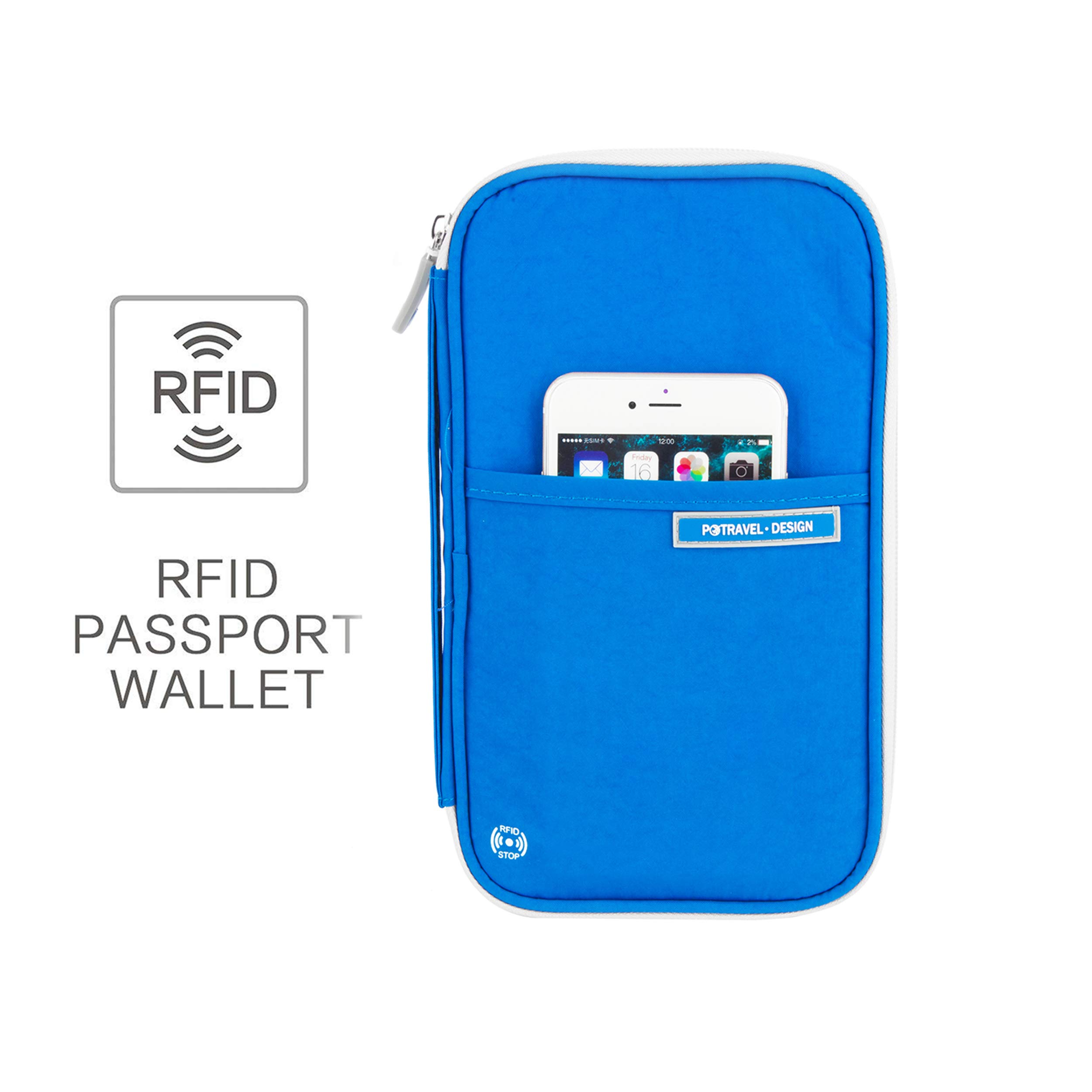 Family Passport Holder Rfid Blocking Travel Waterproof Wallet for Women Men