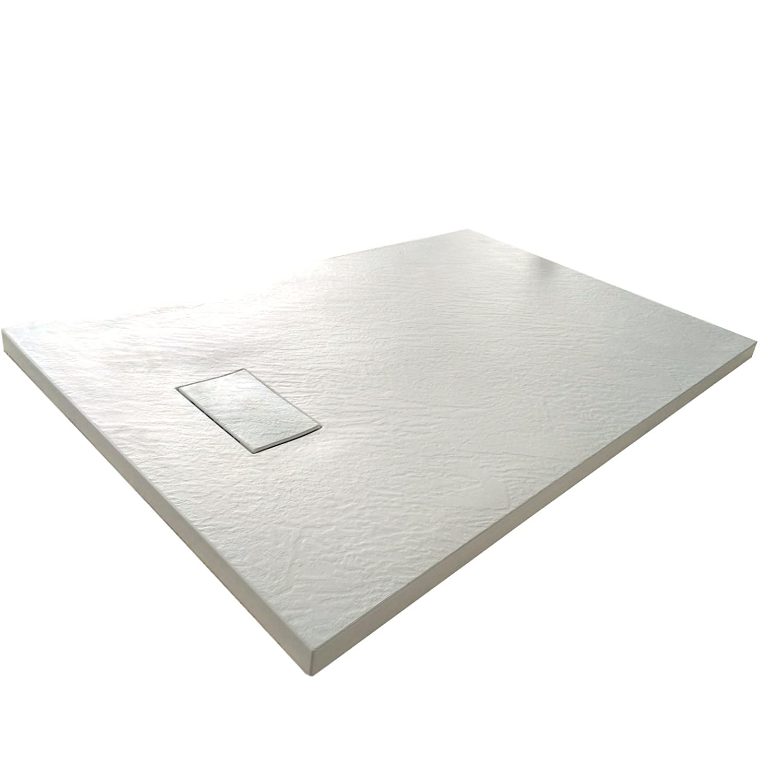 Piatto doccia 70x170 Antracite H.2.6 cm effetto pietra ardesia SMC in resina termoformata.