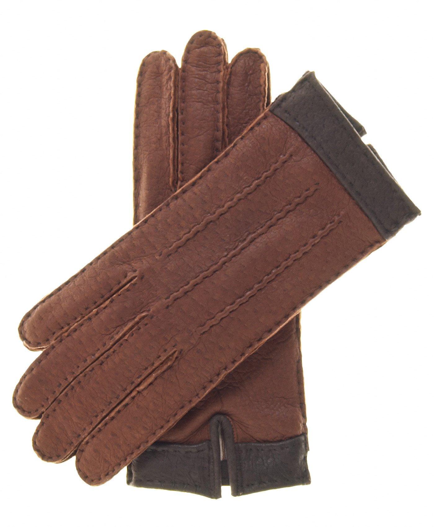 Fratelli Orsini Women's Italian Cashmere Lined Peccary Gloves Size 7 1/2 Color Cork by Fratelli Orsini (Image #3)