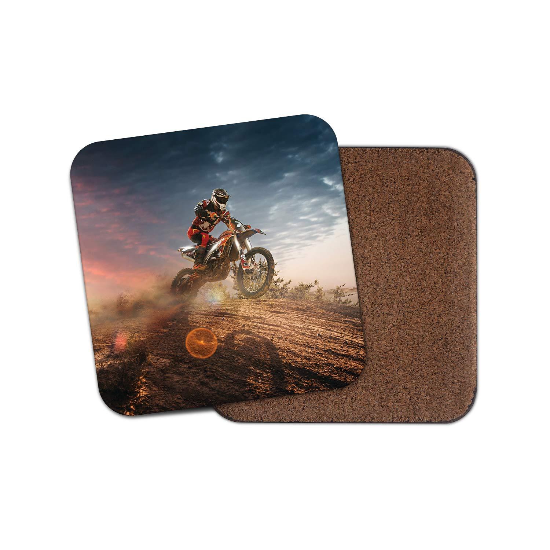 Moto Dad Brother Cool Fun Deportes regalo # 8761 Motocross Dirt Bike posavasos