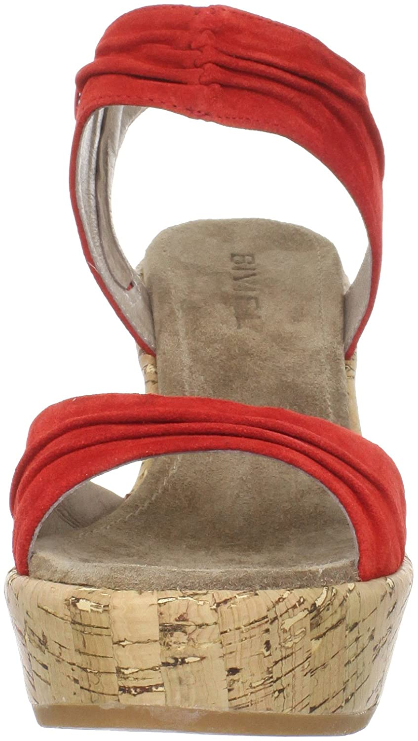 Biviel Women's BV3653 Wedge Sandal B005NYRFP6 37 M EU / 6.5 B(M) US|Silky Red