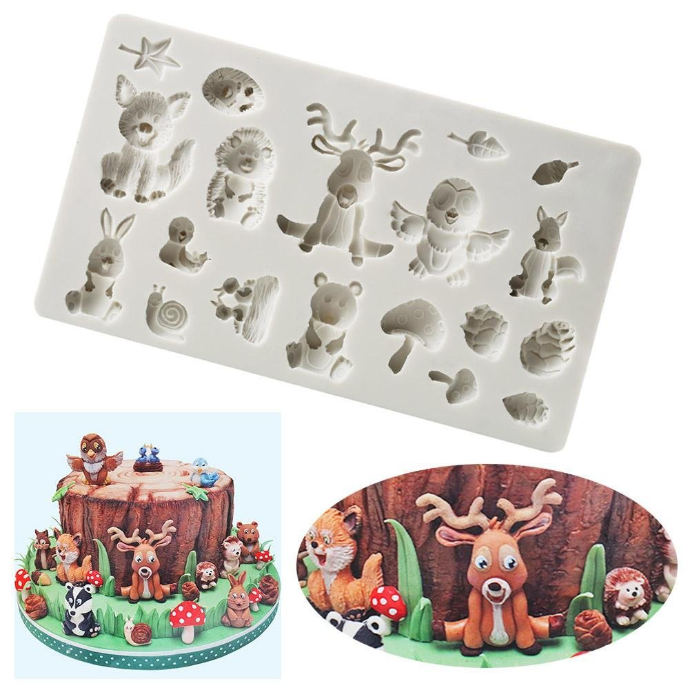 C-Pioneer 3D Silicone Animals Chocolate Biscuit Mold Gingerbread Sugarcraft Cupcake Soap Mould DIY Baking Decorating Tool
