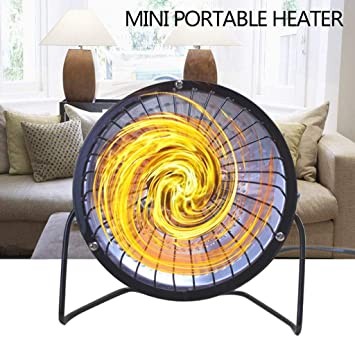 STRIR Calefactor eléctrico para Interior - Emisores térmicos - Mini Estufa Eléctrica Calefactor Portátil (Negro, 4 Pulgadas): Amazon.es: Hogar