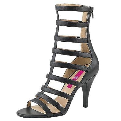 High Heels Sandalette Damen Schwarz (schwarz)