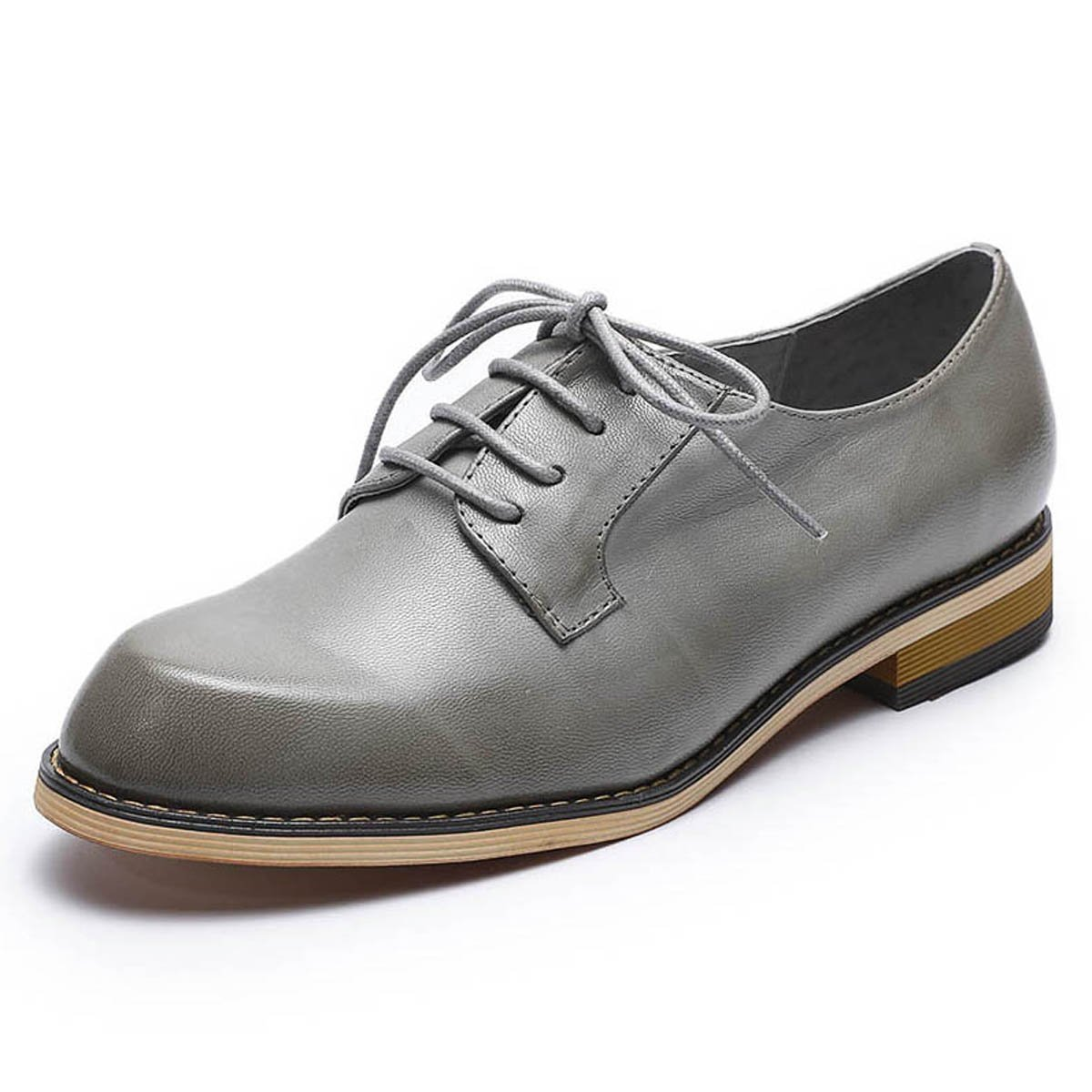 d89a33190d Galleon - Mona Flying Women's Leather Perforated Lace-up Oxfords Brogue  Wingtip Derby Shoes (8 B(M) US, Grey)