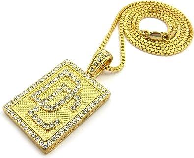 Iced out plata oro cruz collar unisex diamante bling joyas cadena hip-hop