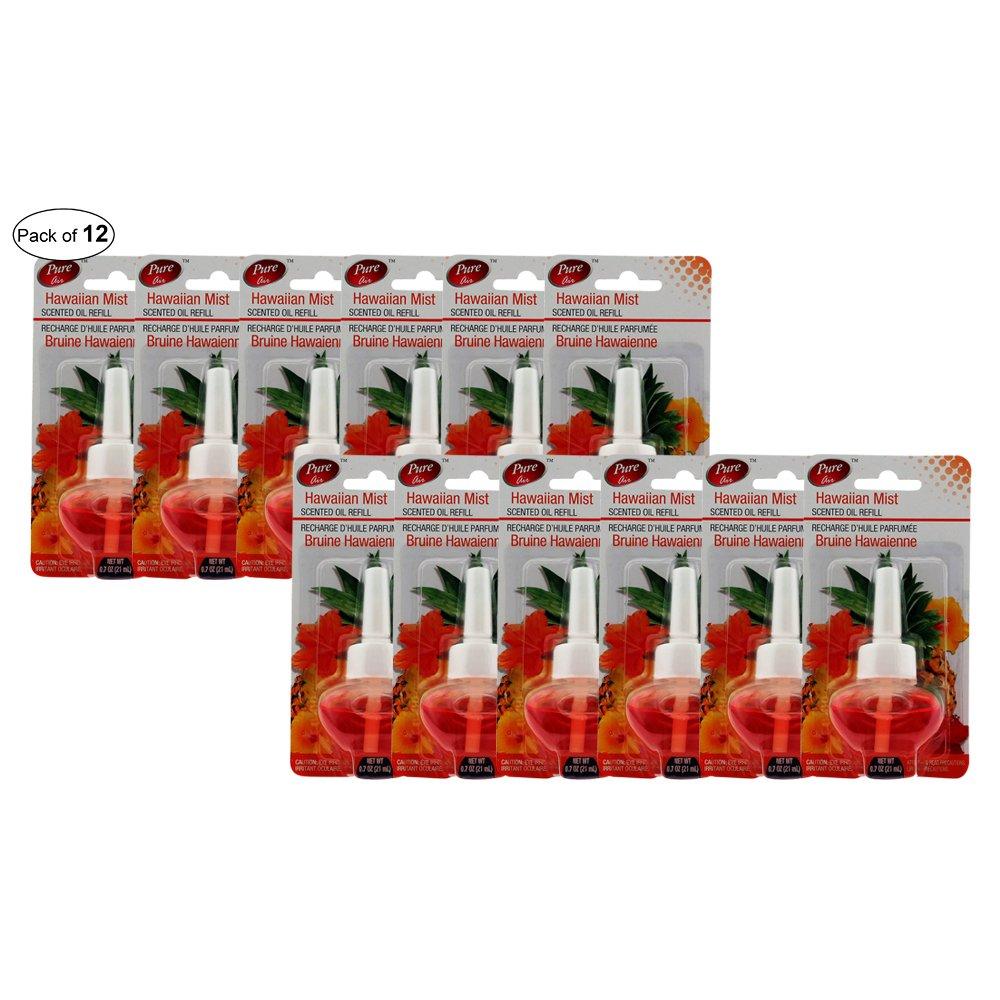 Pure Air Plug In Air Freshener Refill Hawaiian Mist 21ml (Pack of 12) Pure Air ®