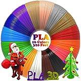 dikale 3D Pen/3D Printer Filament(16 Colors, 320 Feet) Bonus 250 Stencils eBooks 3D Pen Filament 1.75mm PLA for Canbor BESTHING Tecboss MYNT3D AIO Robotics 3D Pen