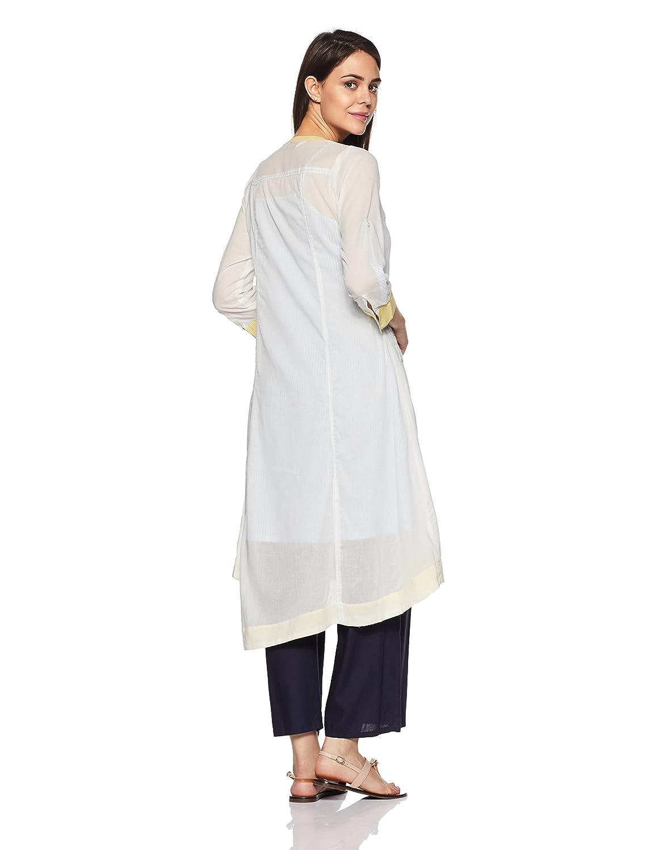 Off White Color Women's Angrakha Kurta
