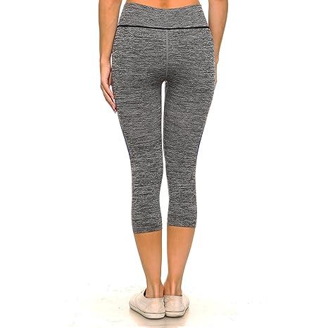 3ba4b3b72e33cb Fashionazzle Women's High Waist Workout Yoga Pants Power Flex Leggings & Top  Set at Amazon Women's Clothing store: