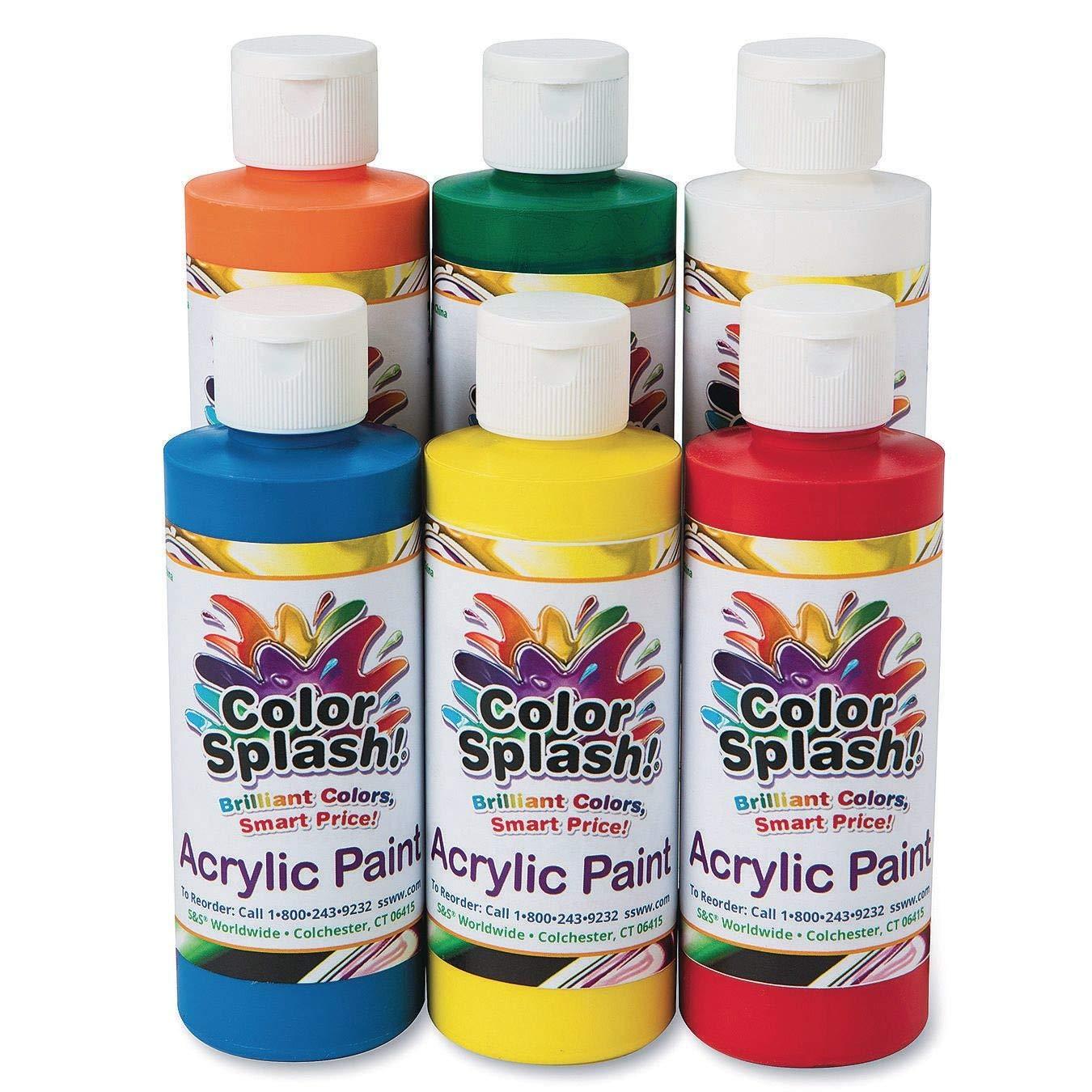 S&S Worldwide 8-oz. Color Splash! Acrylic Paint Assortment (Set of 6)