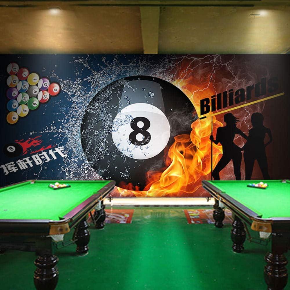 WWMJBH Papel Pintado Autoadhesivo (Ancho) 400X (Alto) 280Cm3D Sala De Billar Snooker Club Papel Tapiz Mural Póster De Pared 3D Mural Foto Niños Niño Niña Dormitorio Arte De La Pared Sala De