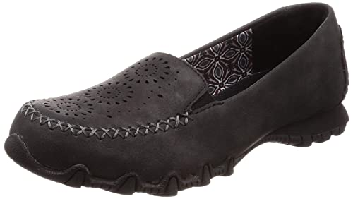 9bf25d89d4d Skechers Relaxed Fit Bikers Lass Womens Slip On Loafers Black 5