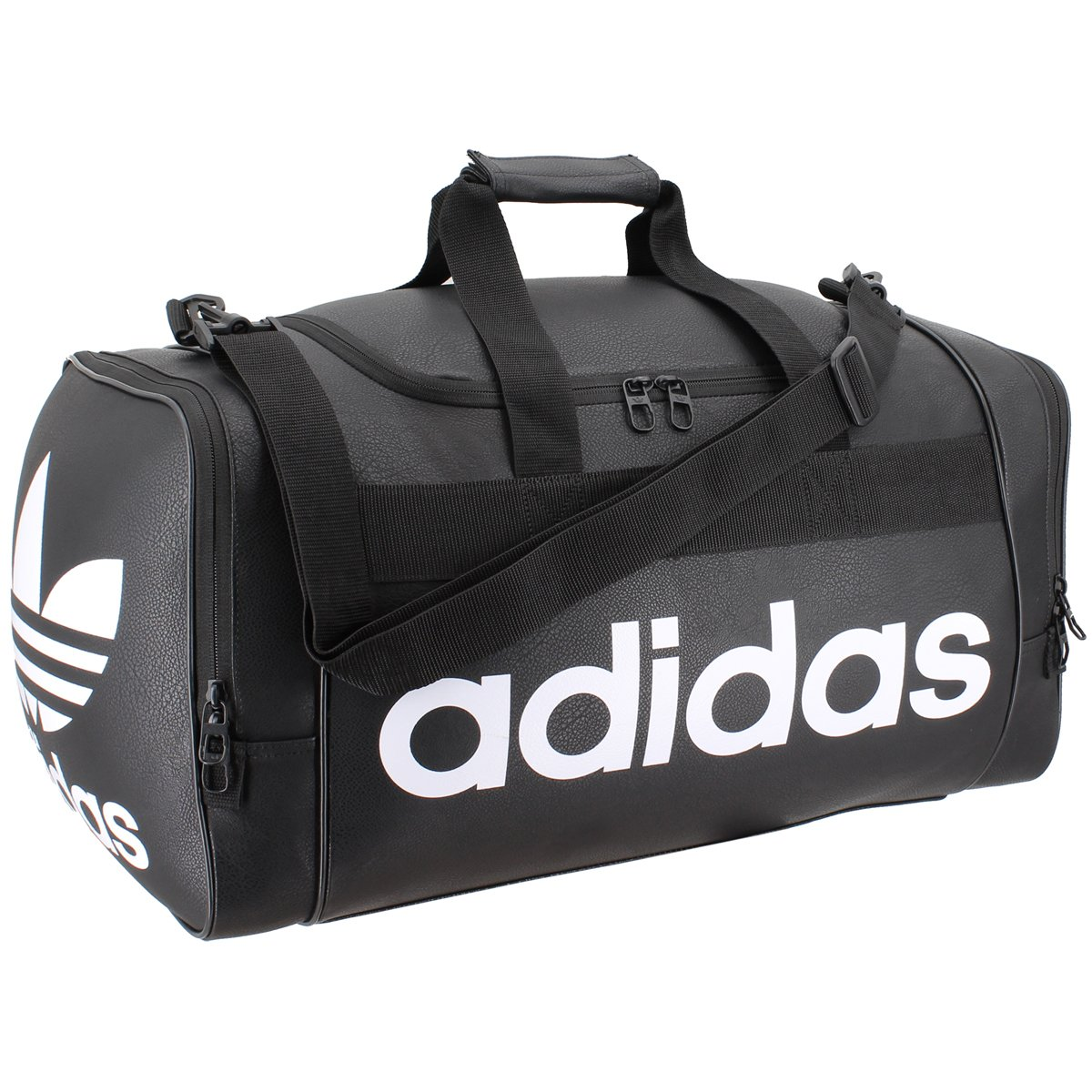 adidas Originals Santiago Duffel Bag, Black/Chalk White, One Size