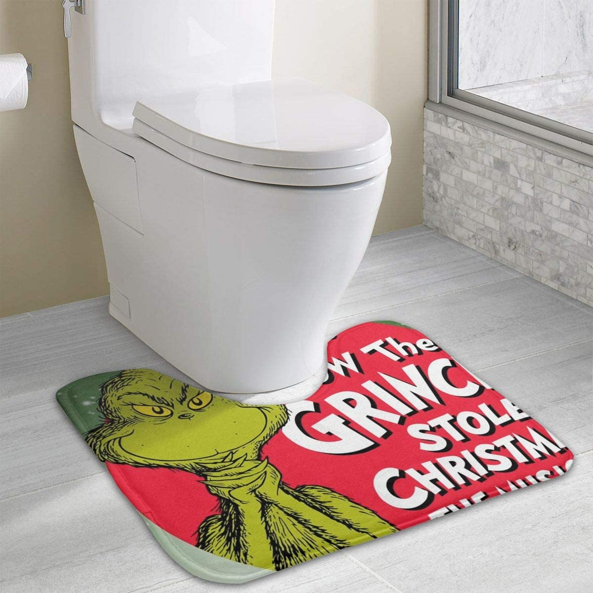 BDFBD Grinch Stole tapete de baño de Navidad – 19
