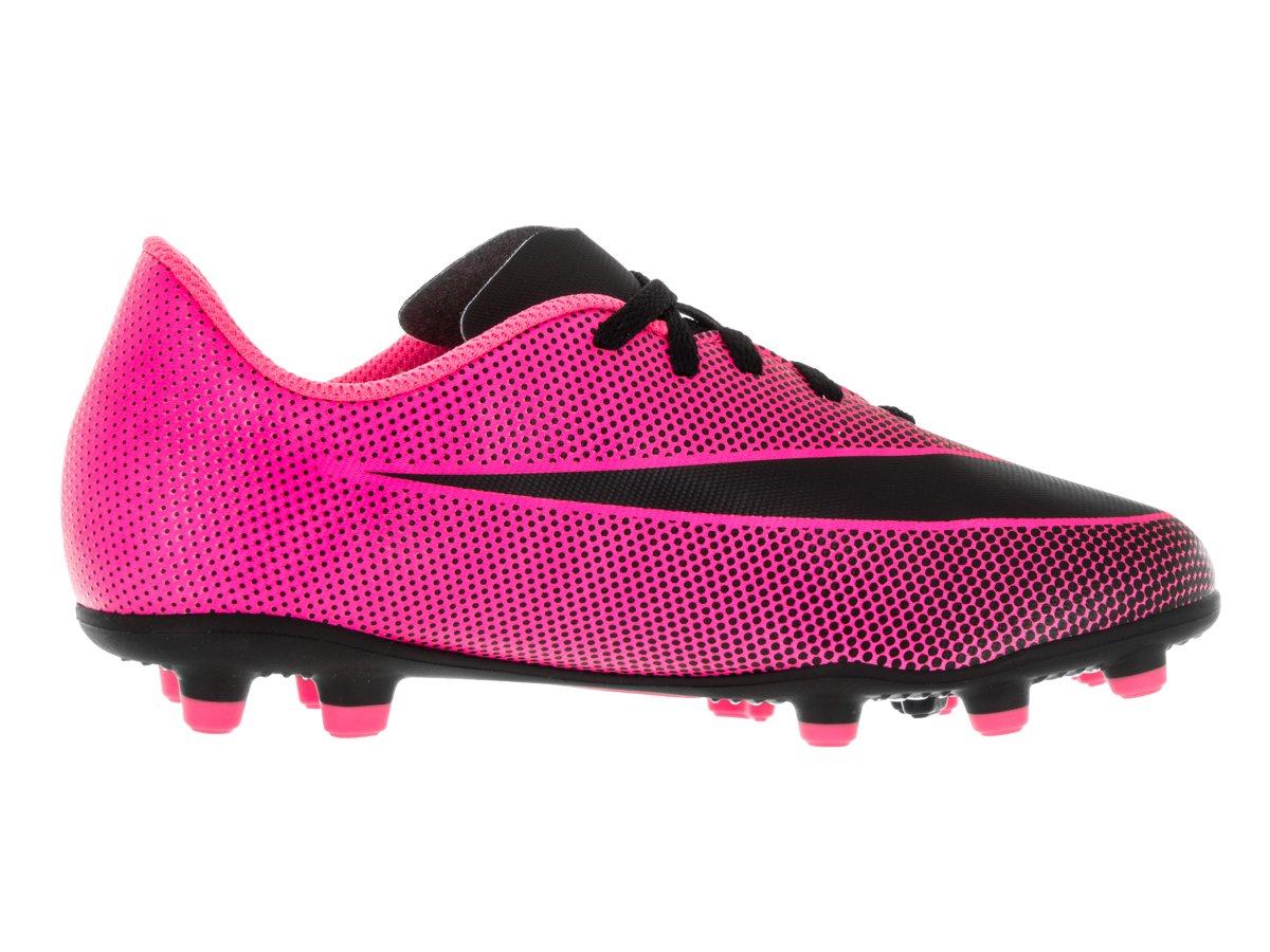 NIKE Jr. Bravata II (FG) Firm-Ground Soccer Cleat Pink Blast/Black Size 2.5 M US