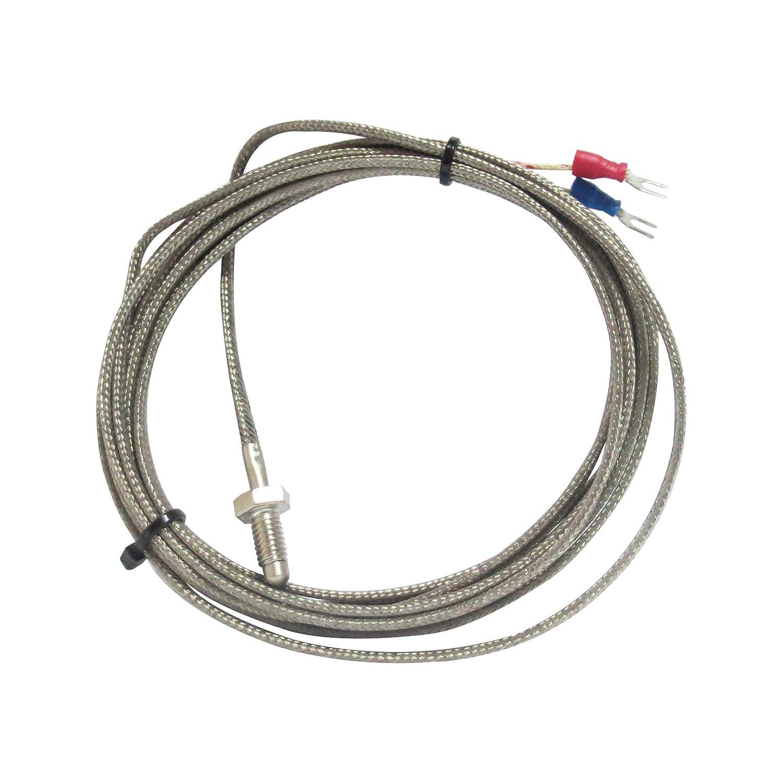 Sonda de termopar tipo K de sensor de temperatura con rosca M6 y cable de 3 metros para controlador de temperatura industrial