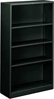 product image for HON Metal Bookcase - 4-Shelf Bookcase, 34-1/2w x 12-5/8d x 59h, Charcoal (HHS60ABC))