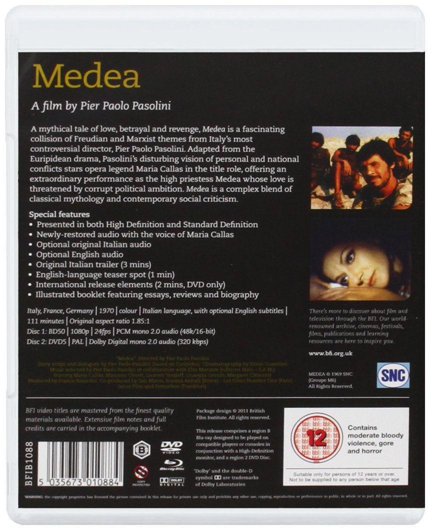 medea dvd blu ray amazon co uk maria callas pier medea dvd blu ray 1969 amazon co uk maria callas pier paolo pasolini dvd blu ray
