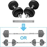 papababe Adjustable Dumbbells Cast Iron with Connector 40, 50, 65, 105, to 200 LBS, Adjustable Dumbbell Sets, Lifting Dumbell
