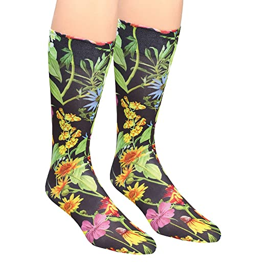 ad5a4a5f9e Image Unavailable. Image not available for. Color: Women's Wide Calf  Printed Moderate Compression Knee Highs ...