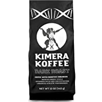 Kimera Koffee Dark Roast - Organic Ground Coffee Infused with Essential Brain Vitamins (12oz), Rich, Organic Coffee…