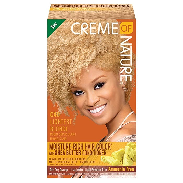 Creme of Nature Moisture Rich Hair Color Kit, Lightest Blonde