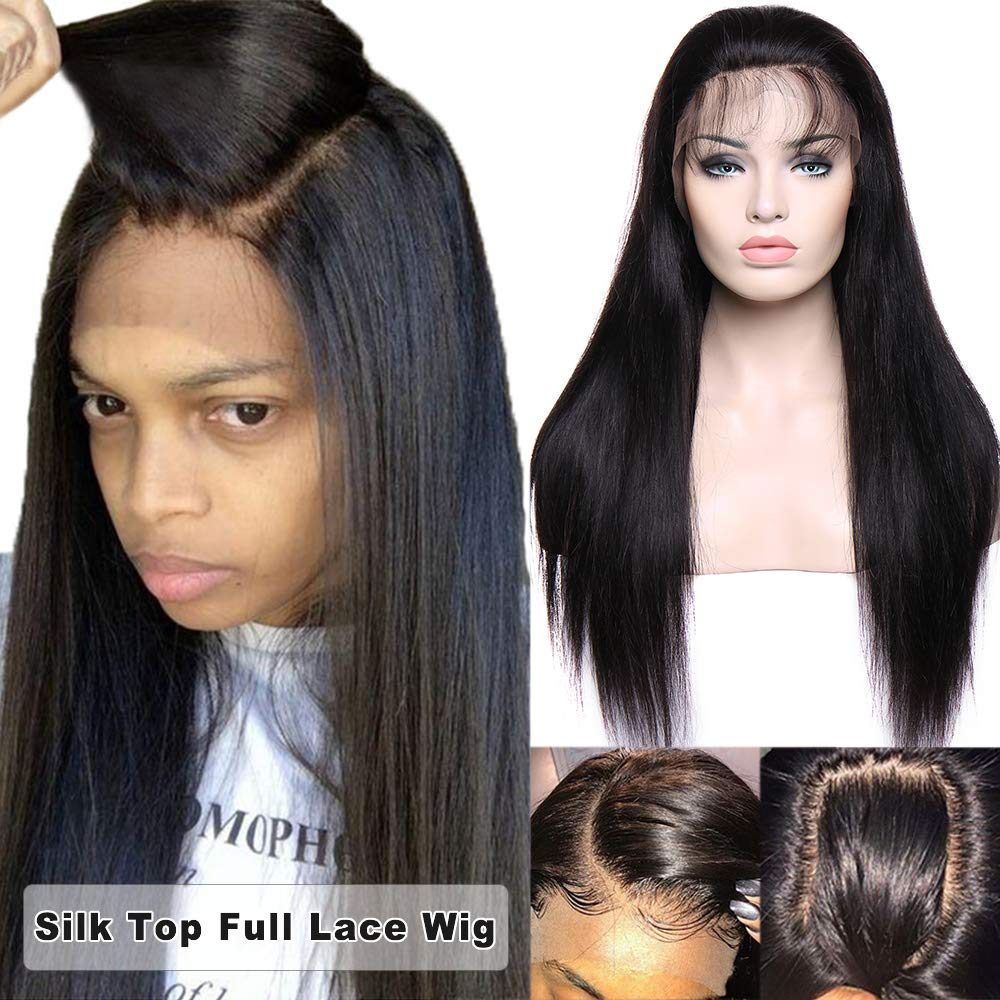 Glueless Silk Top Full Lace Wigs 100% Brazilian
