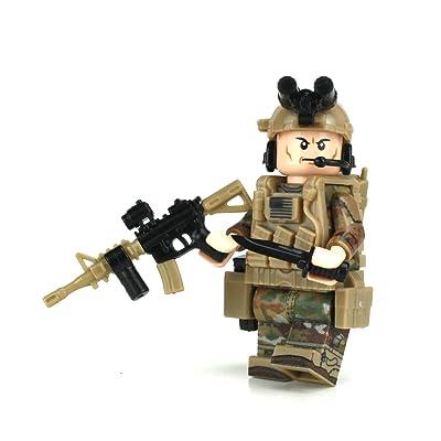 Battle Brick Army Ranger OCP SF Soldier (SKU40) Custom Minifigure: Toys & Games