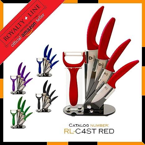 Compra Royalty Line RL-C4ST Juego de cuchillos de cerámica 4 ...