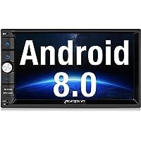 Pumpkin Android 8.0 Autoradio Moniceiver mit GPS Navi Unterstützt Bluetooth DAB+ USB Android Auto WLAN 4G MicroSD 2 Din 7 Zoll Bildschirm