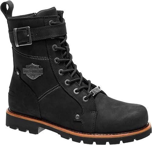 c026c9e3bef Harley Davidson Wickson Men Black Leather Biker Boots Rock Buckles Lace up  41