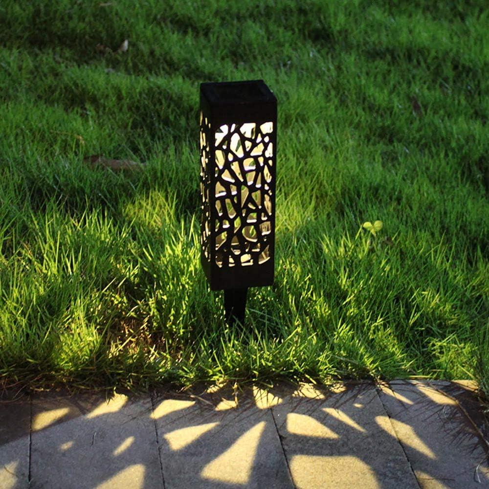 Garden Solar Bollard Solar Garden Floor Bollard Lamp for Patio Automatic Led Walkway Lights Outdoor Pathway Lights A0ZBZ Solar Garden Lights Warm Light Garden Yard