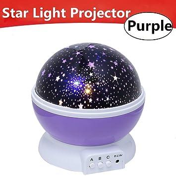 Led Rotating Star Projector Novelty Lighting Moon Sky Rotation Kids Baby Nursery Night Light Battery Or Usb Port Operated Rapid Heat Dissipation Led Night Lights Lights & Lighting