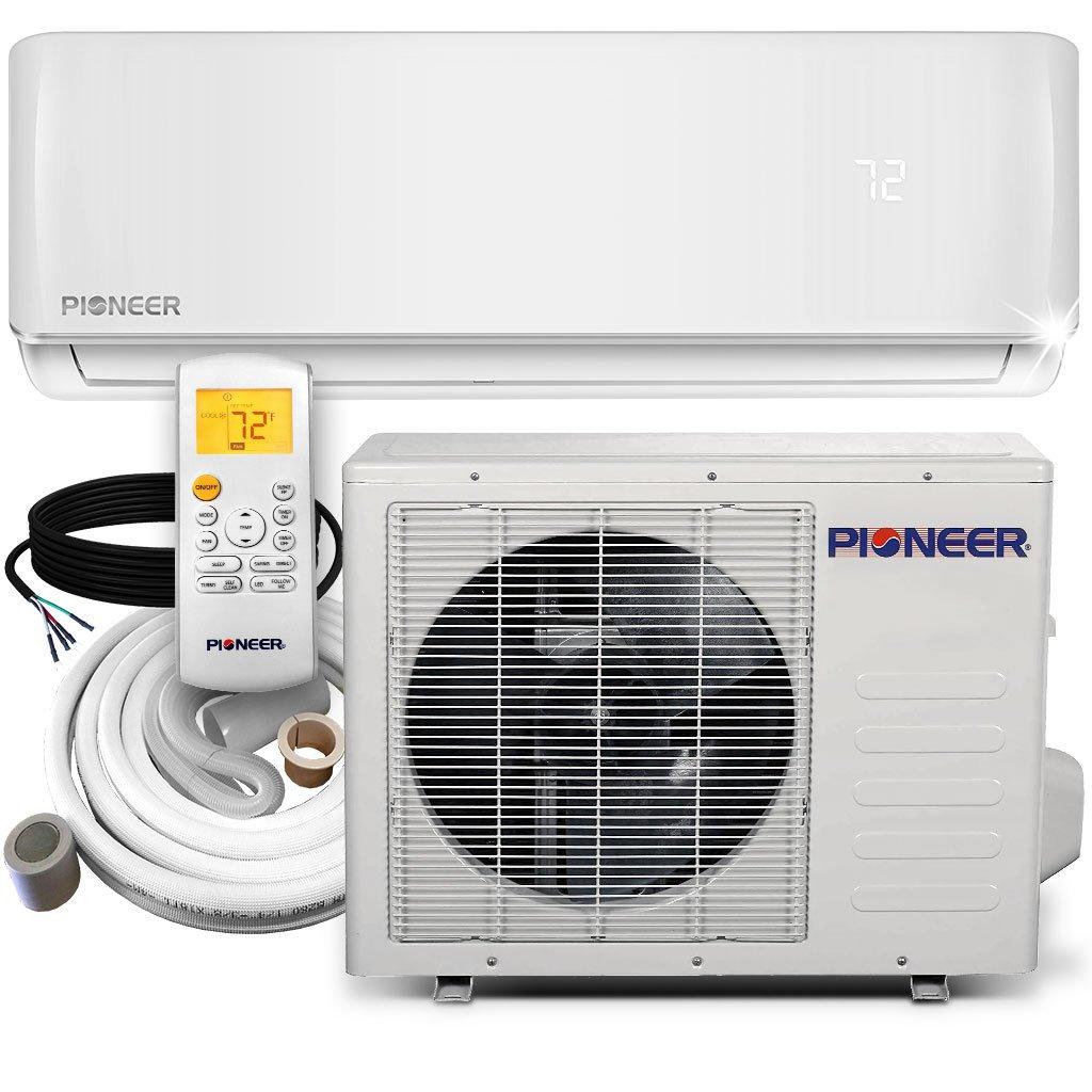 Pioneer Air Conditioner Inverter+ Ductless Wall Mount Mini Split System Air Conditioner & Heat Pump Full Set, 18000 BTU 230V