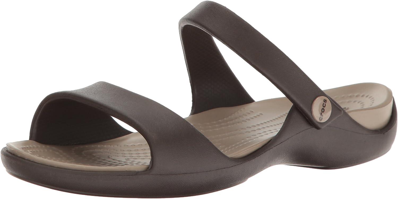 Crocs Cleo V Sandal Women, Sandales Bout Ouvert Femme, Marron (EspressoMushroom) 3435 EU