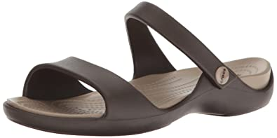 najlepsze trampki 100% wysokiej jakości kup popularne crocs Cleo V Women Sandal in Brown