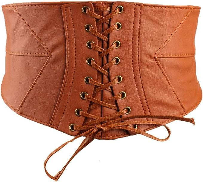 Damen Stretchgürtel Breit Taillengürtel Hüftgürtel Strech Gürtel Taillenkorsett