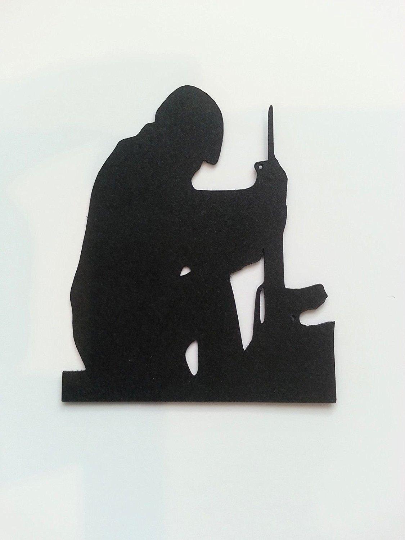 5 Soldier Silhouette Die Cuts Shapes Black Card RJK Crafts